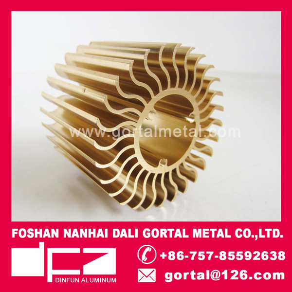 Aluminum extruded LED heatsink