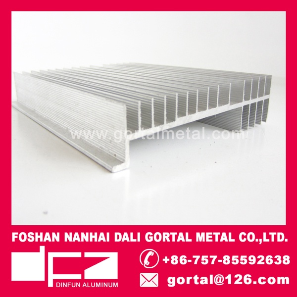 Aluminum profile induction cooker heat sink