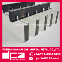 30x100 white square baffle false ceiling