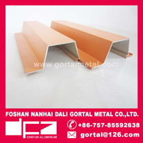 Aluminum extrusion decorative split joint wall panel