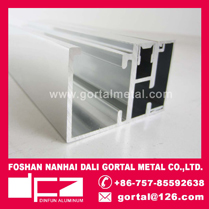 6463 aluminum polished profile for shower door