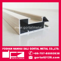 Aluminum extruded profile for kitchen door