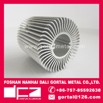 Aluminum extruded LED heat sink