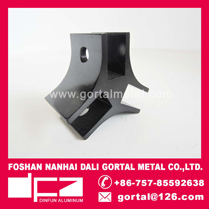 6061 Aluminum extrusion profile black
