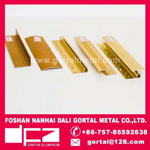 aluminum anodize golden tile trim