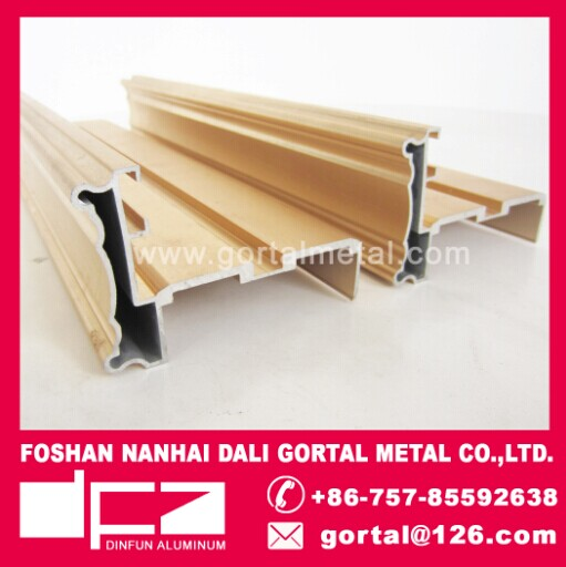 6063 high quanlily golden anodize aluminum villas door