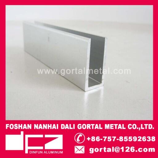 6463 6063 aluminum u shape profile glass clip