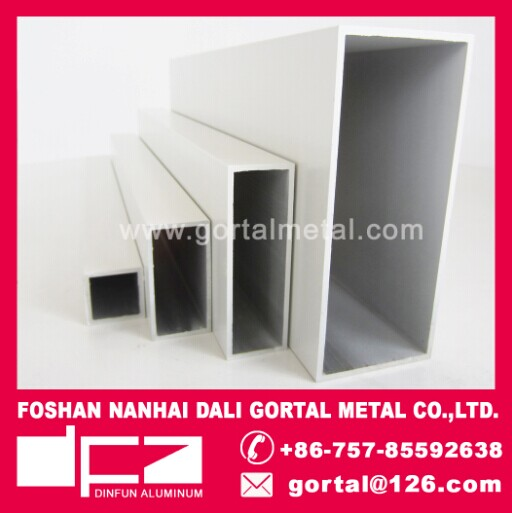 aluminum extruded RHS square pipe