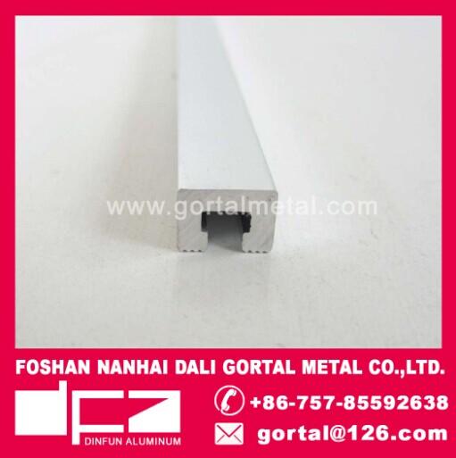 Aluminum listello polish silver tile trim