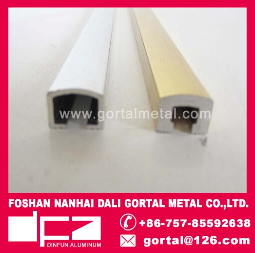 Aluminum listello polish golden tile trim