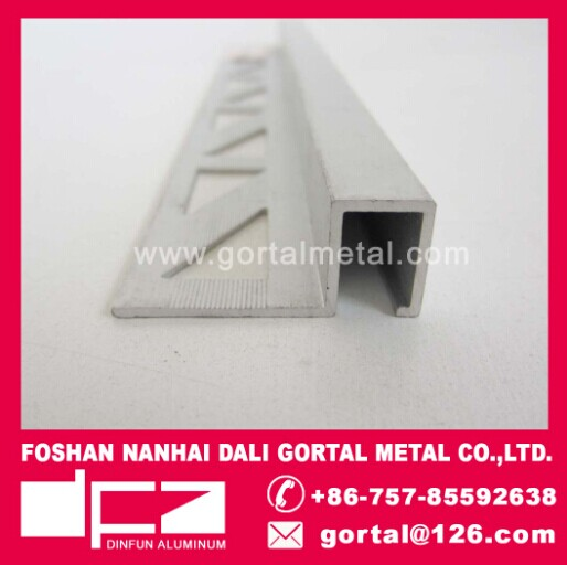 Aluminum mat silver color metal trim
