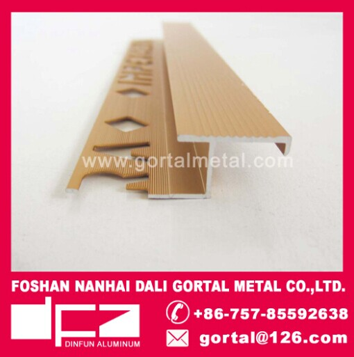 aluminum Z shape golden metal tile trim
