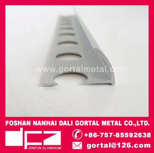 Aluminum round corner edge trim