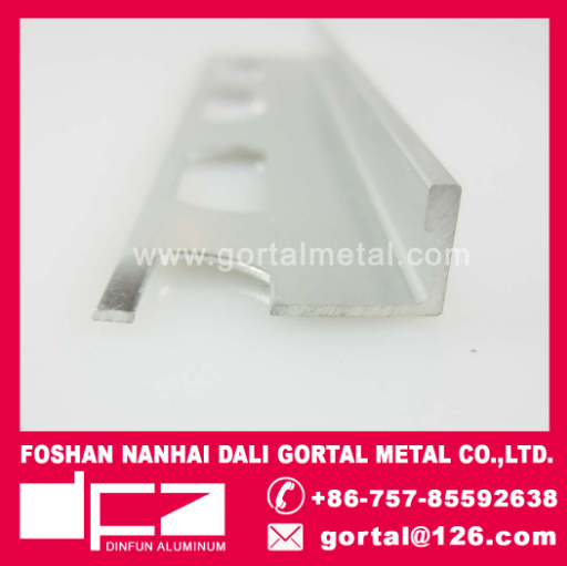 Aluminum L corner tile strip