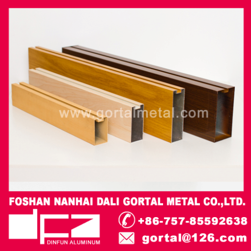 wooden graining aluminum metal ceiling