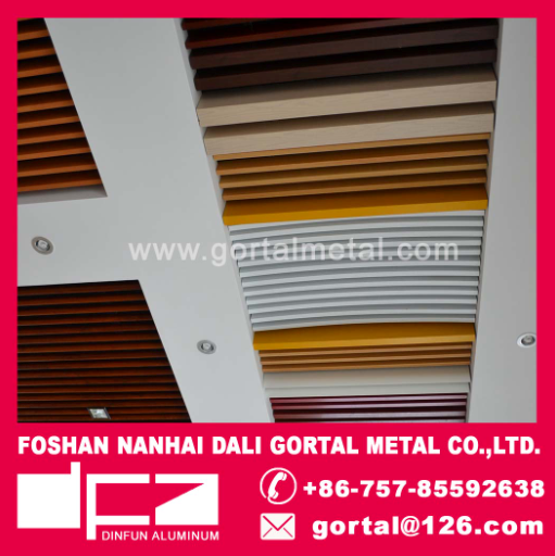 DinFun Aluminum baffle metal ceiling
