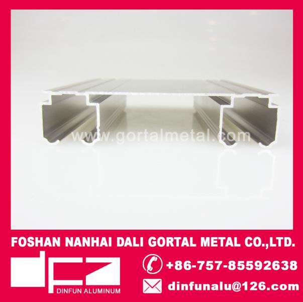 Aluminum double curtain track