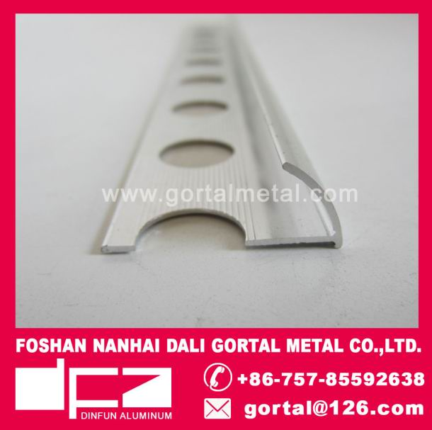 Aluminum round edge tile trim export to Italy