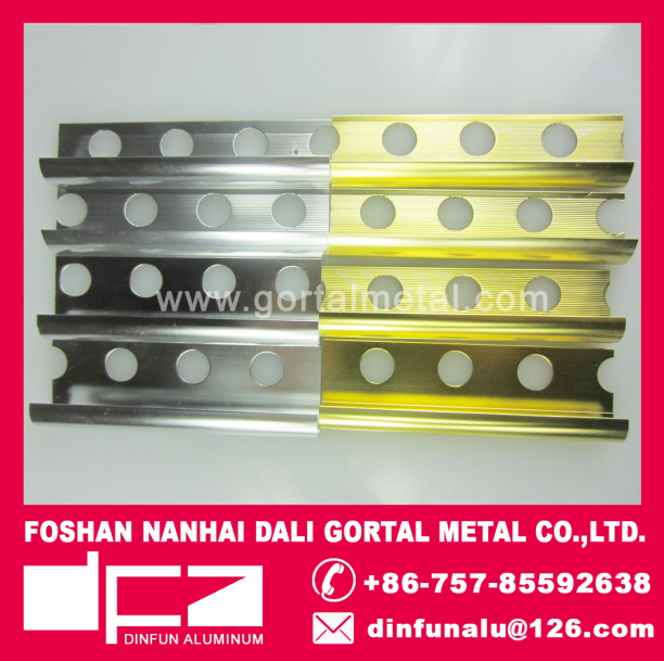 aluminum extruded polished silver tile trim export to Australia