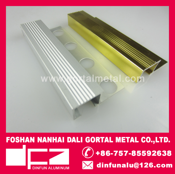 aluminum square tile trim polished export to India