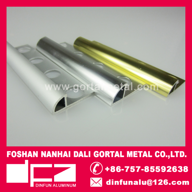 Aluminum Corner angle tile trim export to Dubai