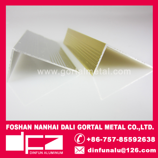 aluminum L shape stair nosing tile trim export to Italy