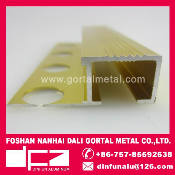 Aluminum ceramic tile edge trim supplier export to Italy