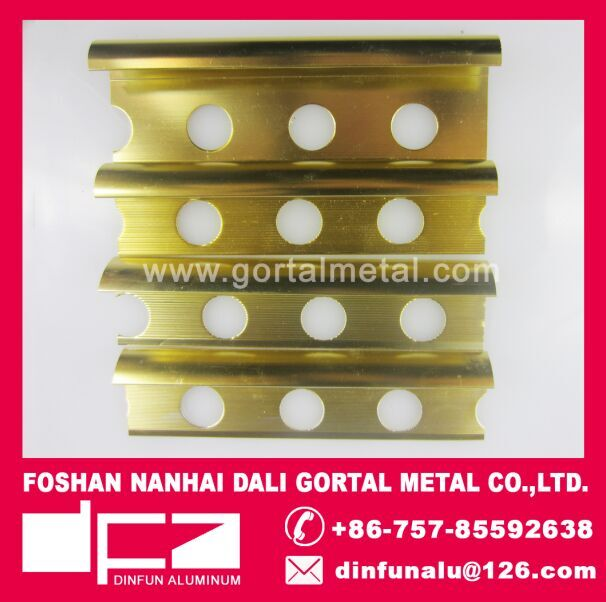 aluminum polished golden round edge flooring trim Italy