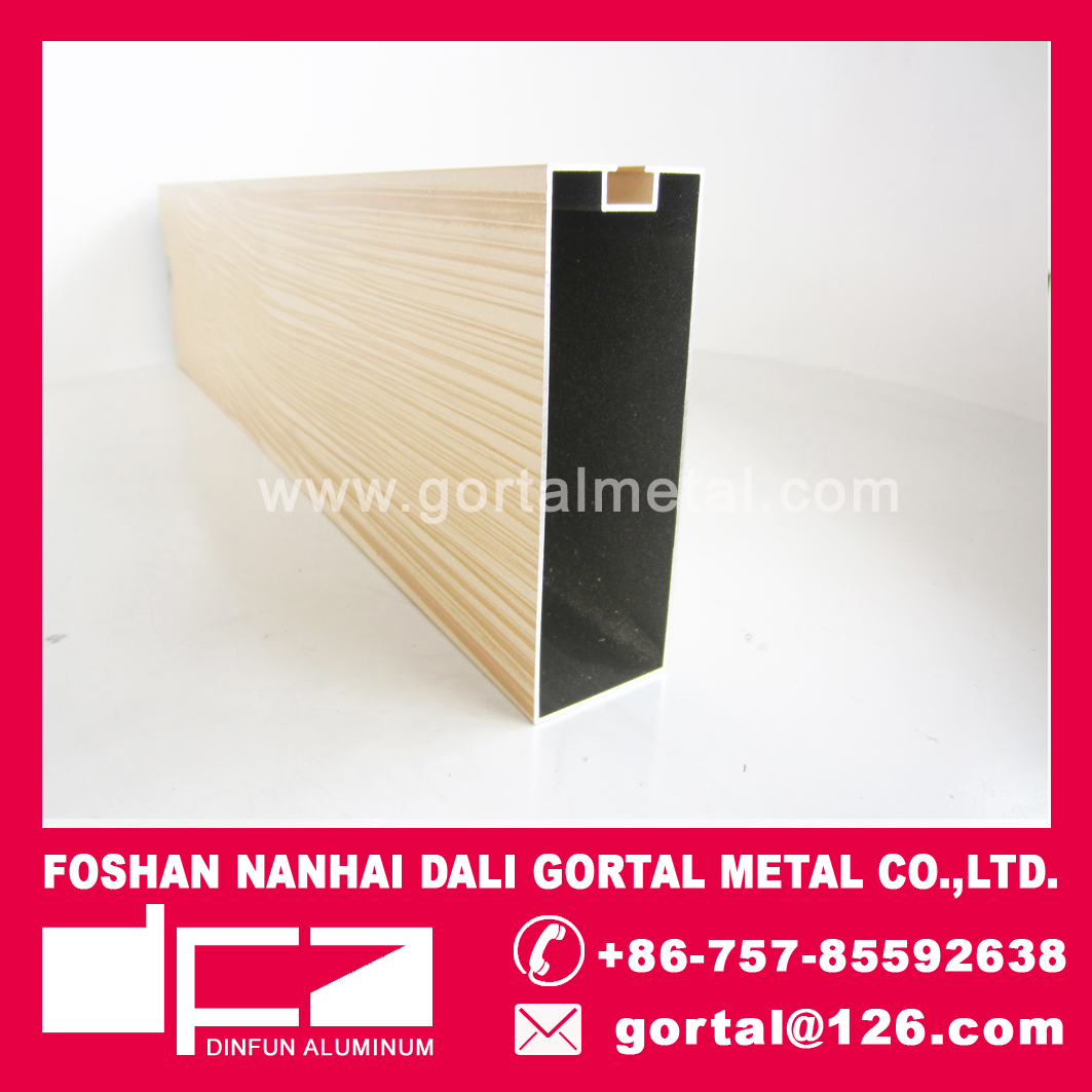 aluminum suspended ceiling 50X150X1.5 wood grain