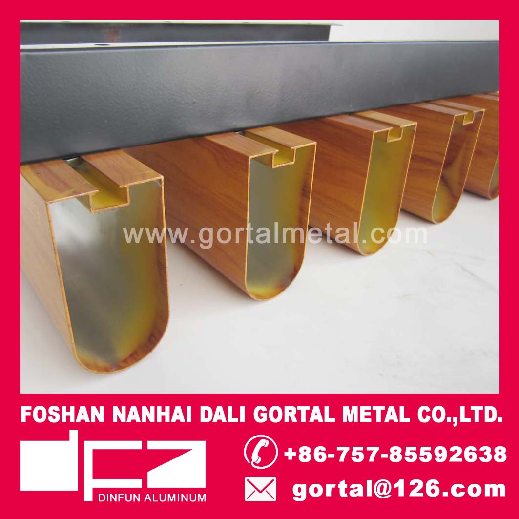 ALUMINUM METAL SUSPENDED CEILING 50X100 ROUND BOTTOM
